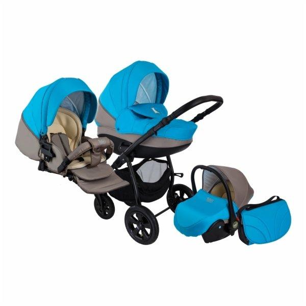 Детская коляска Tutis Tapu-Tapu 3 в 1 (серый/синий)