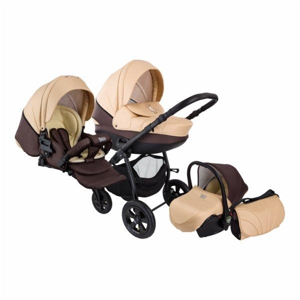 Детская коляска Tutis Tapu-Tapu 3 в 1 (кремовый/коричневый)
