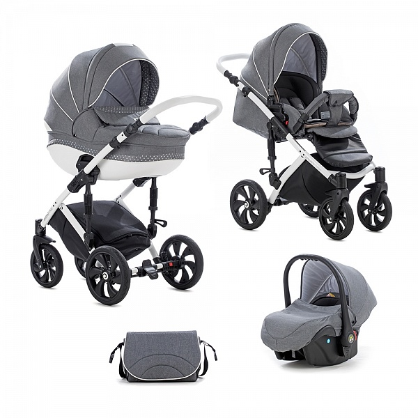 Детская коляска Tutis Mimi Style 3 в 1 (серый)