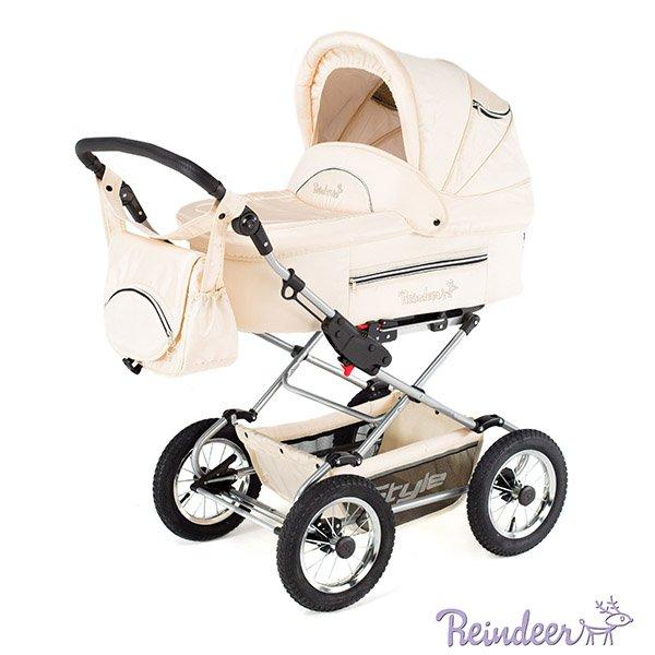 Детская коляска Reindeer Style 3 в 1 (кремовый)