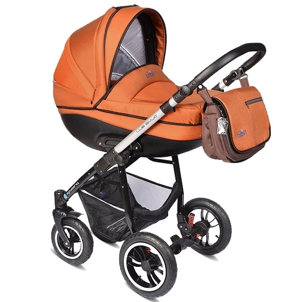 Детская коляска Noordline Olivia Alu 3 в 1 (оранж.)