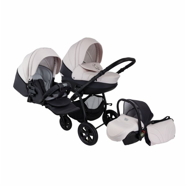Детская коляска Tutis Tapu-Tapu 3 в 1 (черно-белый)
