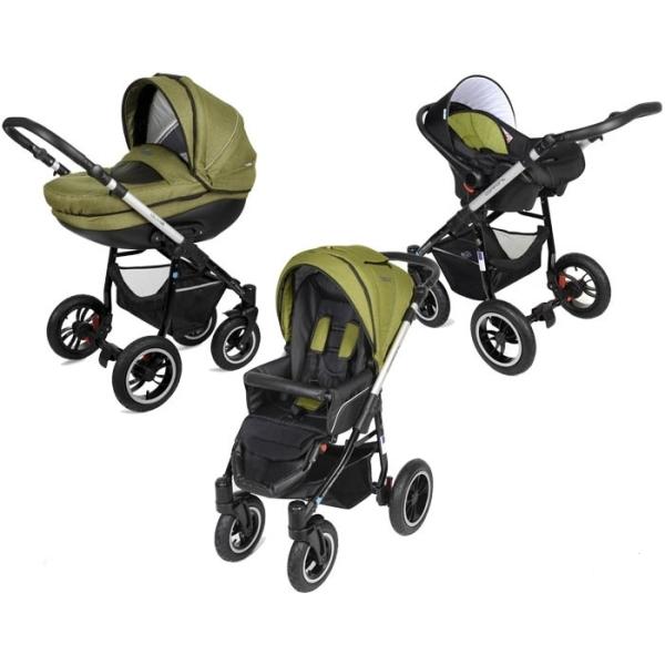 Детская коляска Noordline Olivia Alu 3 в 1 (зеленый)