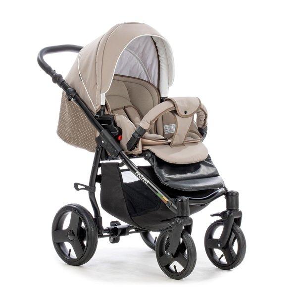 Детская коляска Tutis Mimi Plus Эксклюзив 3 в 1 (серый/бежевый)
