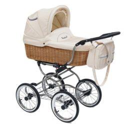 Детская коляска Reindeer Prestige Wiklina Eco-line 2 в 1, с конвертом (белый)