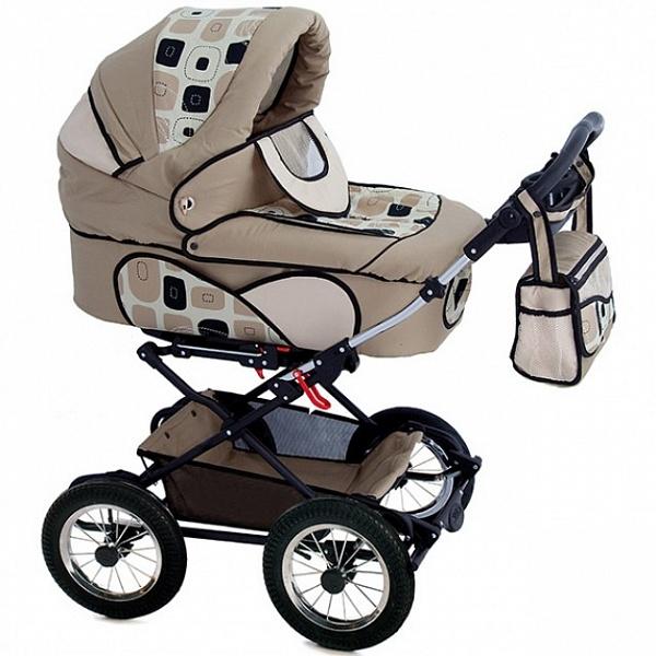 Детская коляска Reindeer Mega 3 в 1 (бежевый)