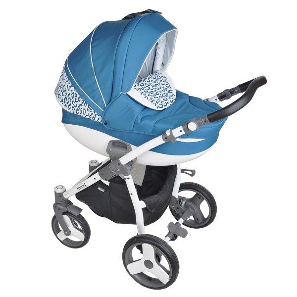 Детская коляска Tutis Mimi Plus Эксклюзив 3 в 1 (голубой)