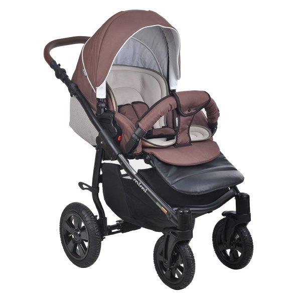 Детская коляска Tutis Mimi Plus Эксклюзив 3 в 1 (коричневый)