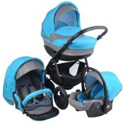 Детская коляска Tutis Galant 3 в 1 (голубой)