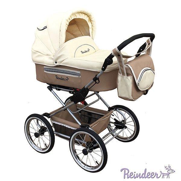 Детская коляска Reindeer Style Leather Collection 2 в 1, эко-кожа (светло-коричневый)