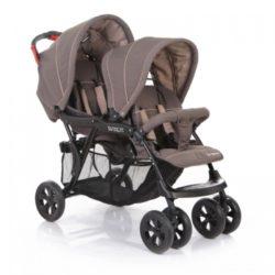 Прогулочная коляска Baby Care Tandem для двойни (бежевый)