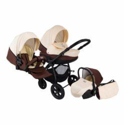 Детская коляска Tutis Tapu-Tapu 3 в 1 (бежево-коричневый)