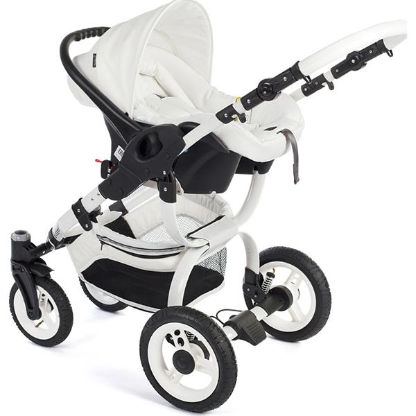 Детская коляска Reindeer City Wiklina 2 в 1, люлька+конверт (Белый/бежевый)