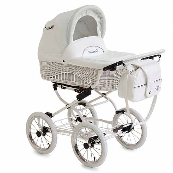 Детская коляска Reindeer Prestige Wiklina 2 в 1 с конвертом (белый)