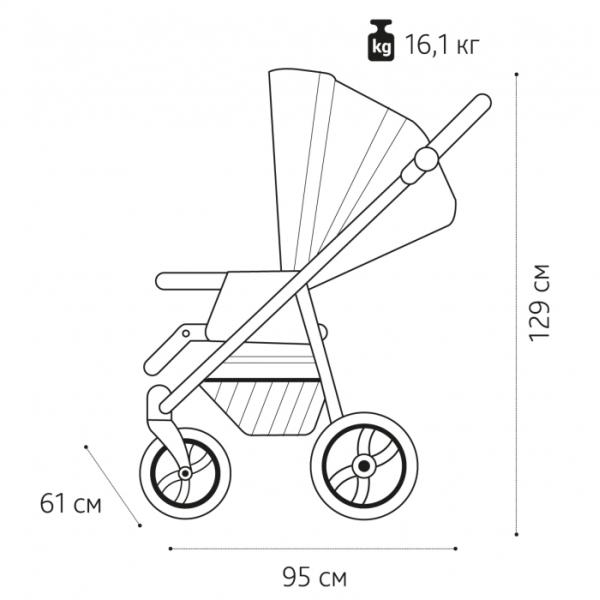 Детская коляска Noordline Stephania 2 в 1 (розовый)