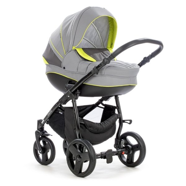 Детская коляска Tutis Mimi Plus Эксклюзив 3 в 1 (серый/зеленый)