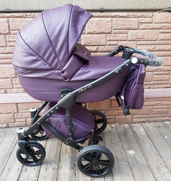Детская коляска Rant Aura S Line 2 в 1, эко-кожа (фиолетовый)