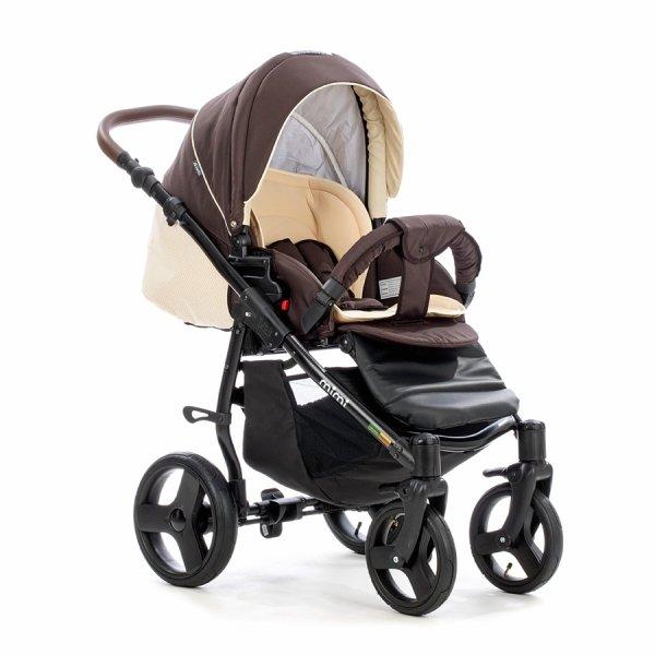 Детская коляска Tutis Mimi Plus Эксклюзив 3 в 1 (коричневый/бежевый)