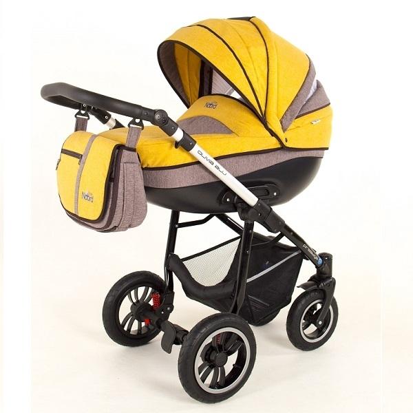 Детская коляска Noordline Olivia Alu 3 в 1 (желтый/беж.)