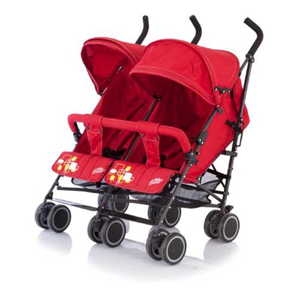 Коляска-трость для близнецов Baby Care City Twin (Красный)