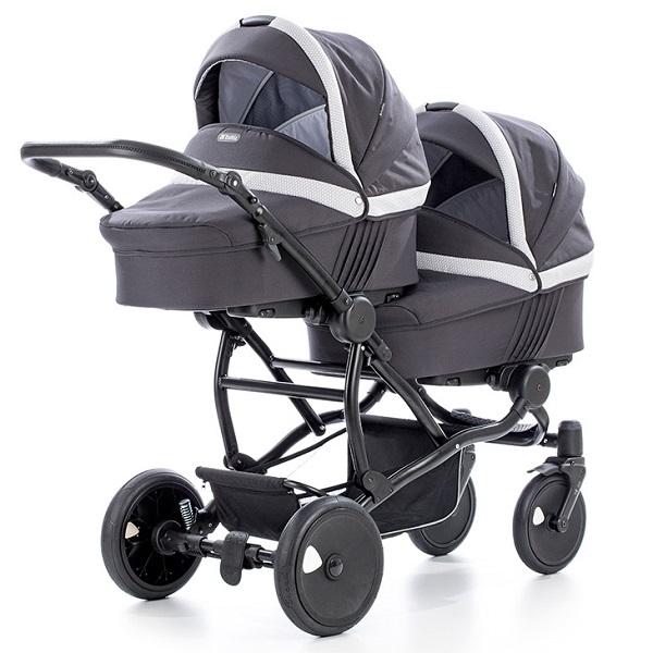 Детская коляска для двойни Tutis Terra 3 в 1 (Тёмно-серый)