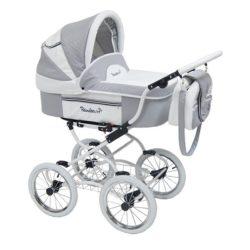 Детская коляска Reindeer Prestige Lily 2 в 1 с конвертом, эко-кожа (серый)