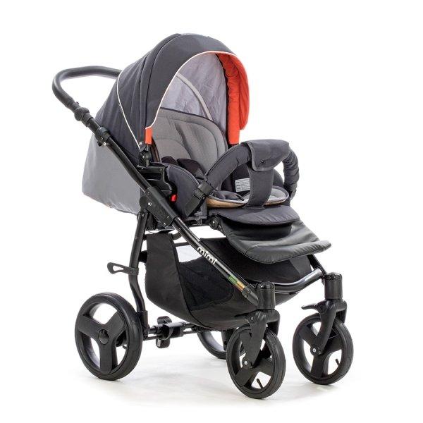 Детская коляска Tutis Mimi Plus Эксклюзив 3 в 1 (серый/красный)
