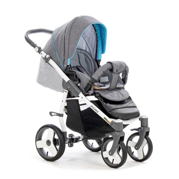 Детская коляска Tutis Mimi Plus Эксклюзив 3 в 1 (серый/голубой)