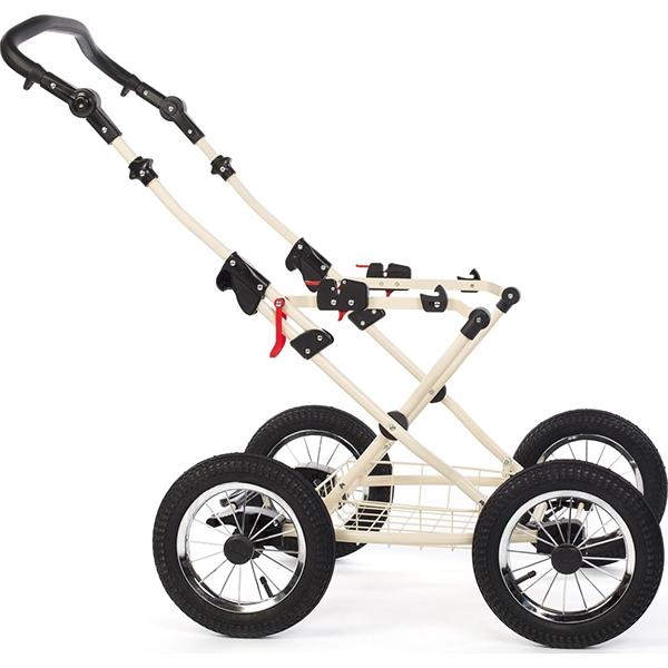 Детская коляска Reindeer Betta 3 в 1, эко-кожа + ткань (коричневый)