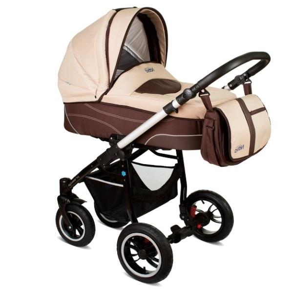 Детская коляска Noordline Beatrice Alu 2 в 1 (бежевый/коричневый)