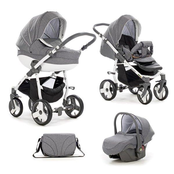 Детская коляска Tutis Mimi Plus Эксклюзив 3 в 1 (серый)