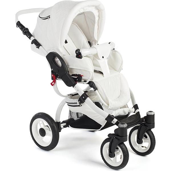 Детская коляска Reindeer City Lily 2 в 1, эко-кожа (Белый)