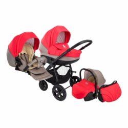 Детская коляска Tutis Tapu-Tapu 3 в 1 (красный/бежевый)
