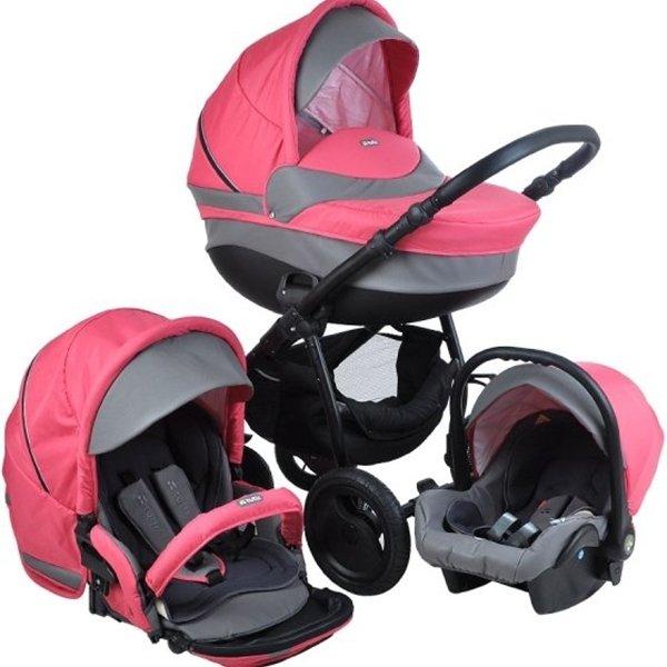 Детская коляска Tutis Galant 3 в 1 (розовый)