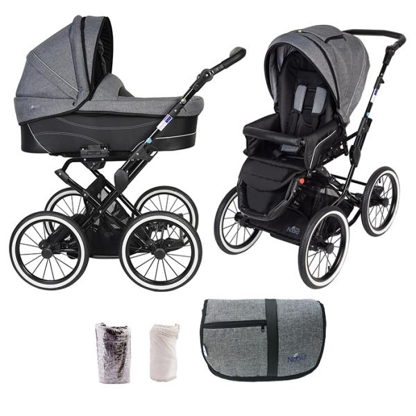 Детская коляска Noordline Beatrice Classic 2 в 1 (серый)