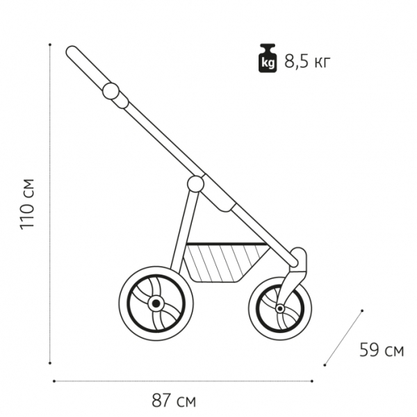 Детская коляска Noordline Olivia Sport 3 в 1 (бирюзовый)