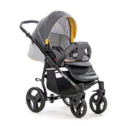Детская коляска Tutis Mimi Plus Эксклюзив 3 в 1 (серый/оранжевый)