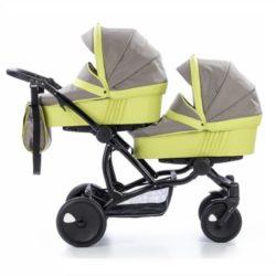 Детская коляска для двойни Tutis Terra 3 в 1 (Серый/зеленый)