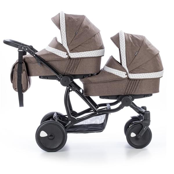 Детская коляска для двойни Tutis Terra 3 в 1 (Коричневый)