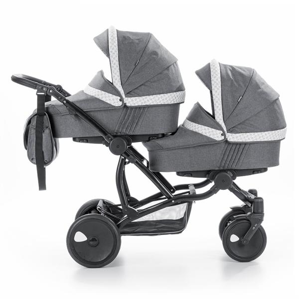 Детская коляска для двойни Tutis Terra 3 в 1 (Серый)