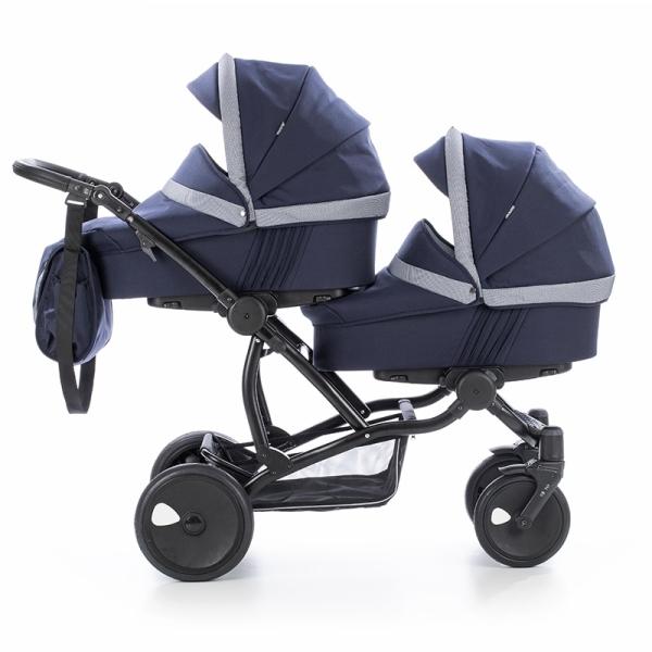 Детская коляска для двойни Tutis Terra 3 в 1 (Синий)