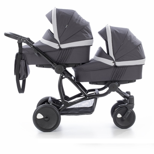 Детская коляска для двойни Tutis Terra 2 в 1 (Тёмно-серый)