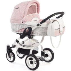 Детская коляска Reindeer City Wiklina 2 в 1, люлька+конверт (Розовый)