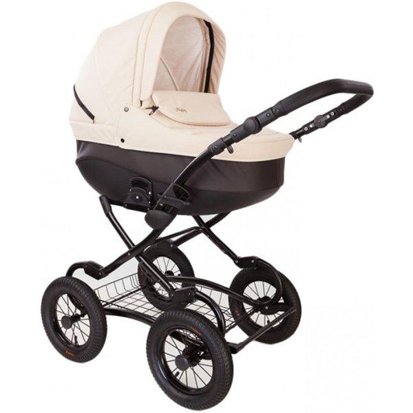 Детская коляска Tutis Zippy New Classic 3 в 1 (Кремовый/коричневый)