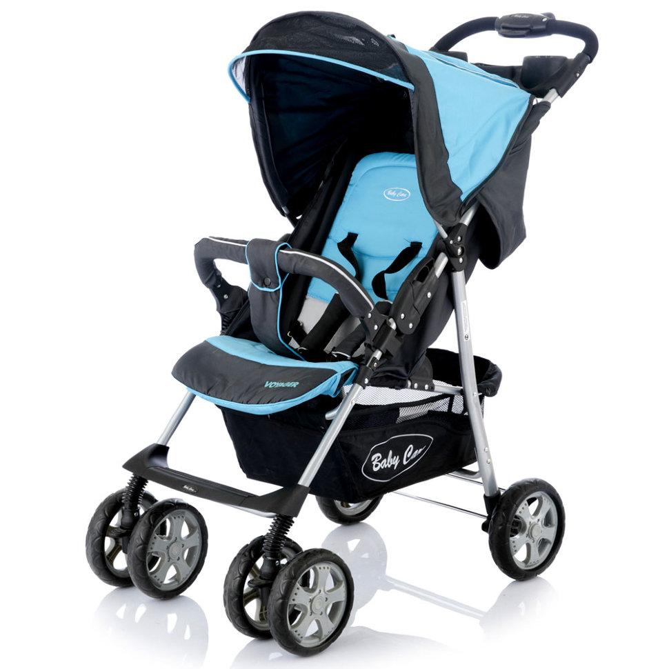 Детская прогулочная коляска Baby Care Voyager (голубой)