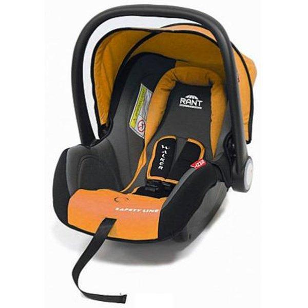 Детское автокресло Rant Safety Line Walker (Черный/оранжевый)