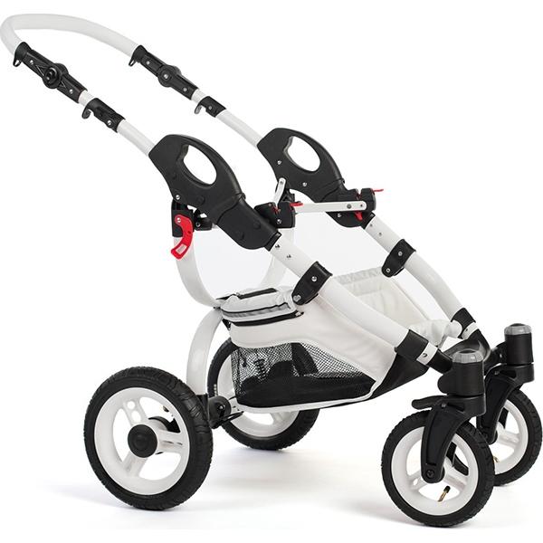 Детская коляска Reindeer City Lily 3 в 1, эко-кожа (темный-синий)