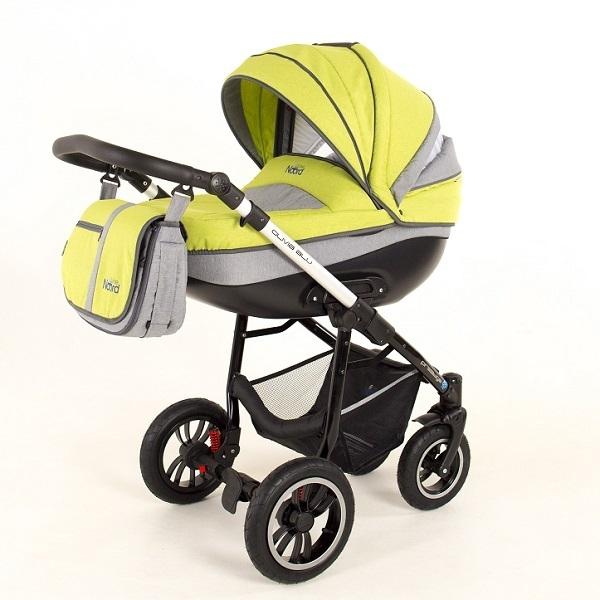 Детская коляска Noordline Olivia Alu 3 в 1 (желтый/серый)
