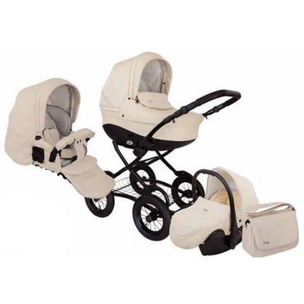 Детская коляска Tutis Zippy New Classic 3 в 1 (Кремовый)