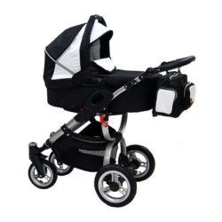 Детская коляска Reindeer City Cruse 2 в 1 (черный/белый)